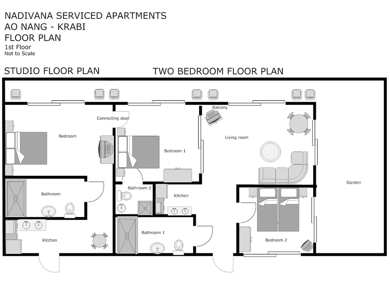 Studio apartment ground floor with direct pool access accomodates up